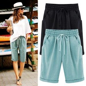 Image 4 - Summer Female Five Pants Thin Outer Wear Pants Large Size Women Slacks 6XL Casual Pants Harem Pants Beach Wear