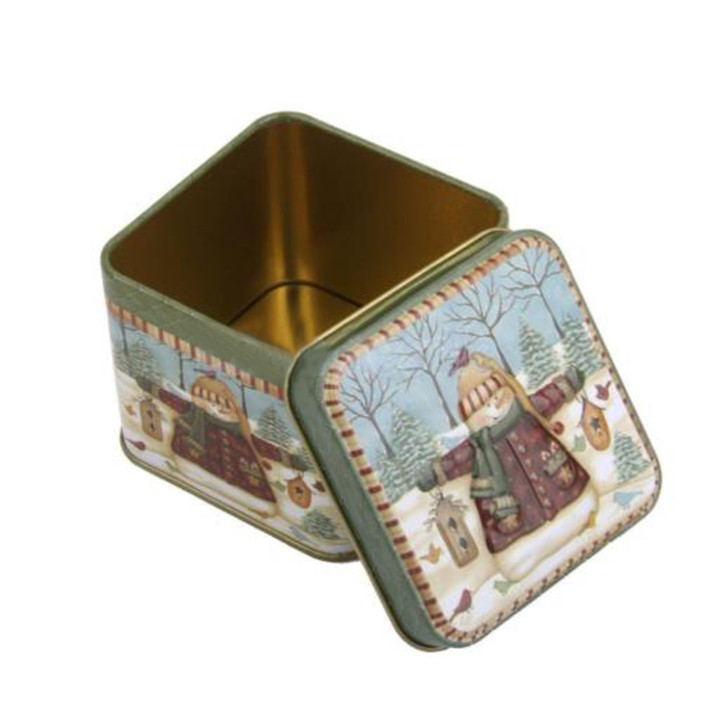 Tin Mailbox: 1 Pcs Pattern Random Drop Shipping Merry Christmas Tin Box