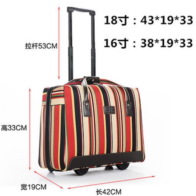 16/18 inch High quality fashion Rolling Luggage Multifunction Suitcase Wheels Short trip travel essential Travel Bag