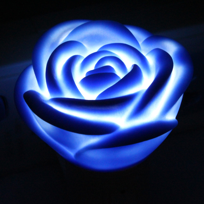 Rose Led Flower Light Red/Blue/Pink Lamp Room Home Decoration Bedside Novelty Night Light Luminaria Nightlight 110V 220V