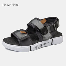 2019 summer fashion young men sandals Nylon toe strap hook loop gladiator non-slip comfortable casual beach outdoor teen shoes