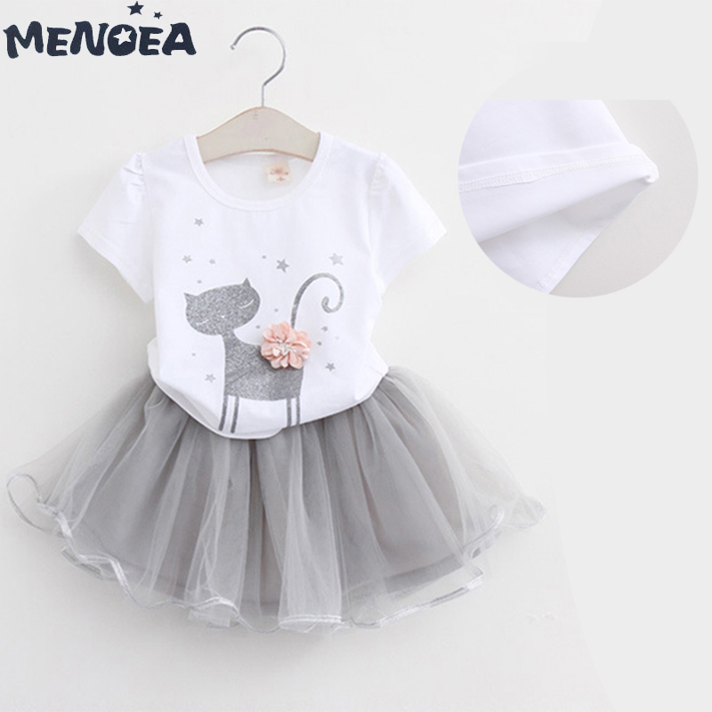 Menoea Ladies Attire Pretty Cartoon Youngsters Tutu Costume Summer season Ladies Garments Spring Quick Sleeve Stable Spherical Neck Youngsters Clothes Attire, Low cost Attire, Menoea Ladies Attire Pretty Cartoon...