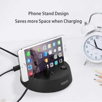 US Electrical Plug Extension with Phone Holder by NTONPOWER