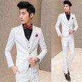 Мужчины полосы костюм белый терно masculino мужские свадебные костюмы костюм homme смокинг мужские костюмы terno уменьшают подходящие костюм мужчин