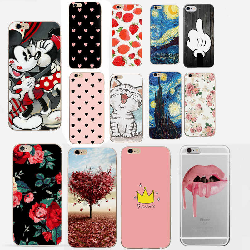 For Fundas iPhone 7 Case Cover Apple iPhone X XS 5 5S SE 6 6S 7 8 Plus Love Heart Couple Phone Back Case For iphone 6s 6 s capas