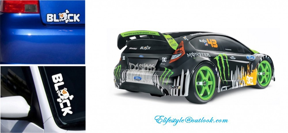 Monster Car Stickers Ken Block Car Decal For Toyota Ford