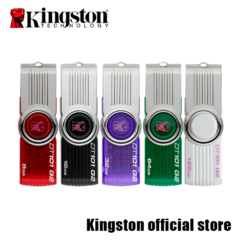 kingston USB C Cle usb 32gb Pendrive Datatraveler DT101G2 Memory Stick 16gb Swivel Black & purple Color USB Flash Mini Pen Drive