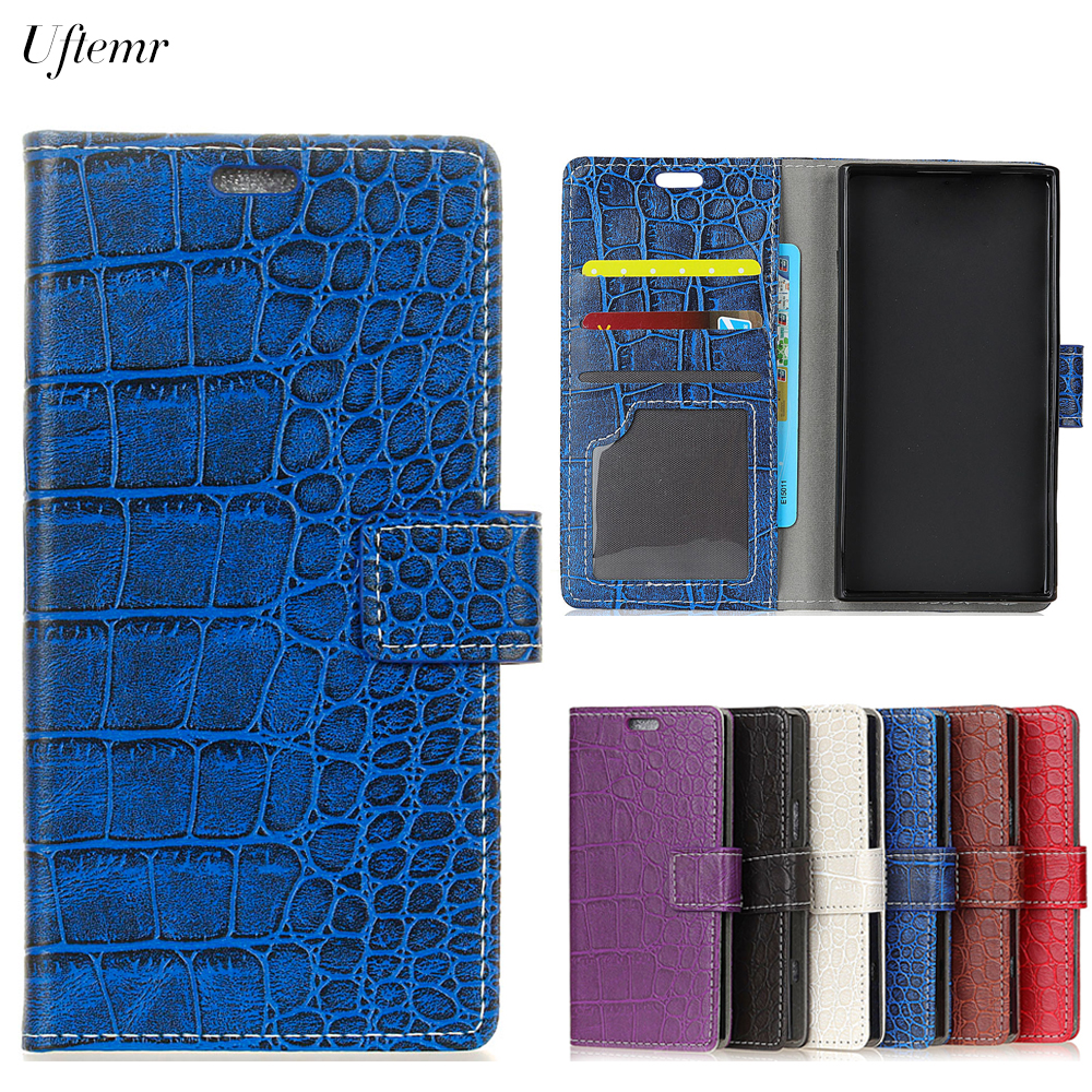 Uftemr Vintage Crocodile PU Leather Cover Silicone Case For Huawei Honor View 10 V10 Wallet Card Slot Phone Acessories