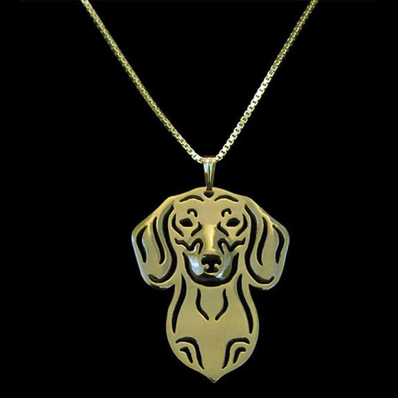 Dachshund Dog Pendant Necklaces Gold-color For Pet Lovers Women Animal Jewelry & Cloth Accessories 2017