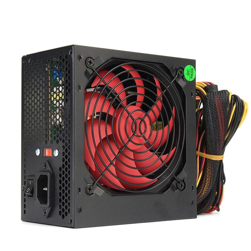 ATX-PC US/AU/EU Plug 850W 850 Watt BTC Power Supply CPU Active PFC Efficient Fan 24Pin PCI SATA ATX 12V Molex Miner PC Power wholesale lw 3010d regulated adjustable dc power supply single phase 30v10a us eu au plug