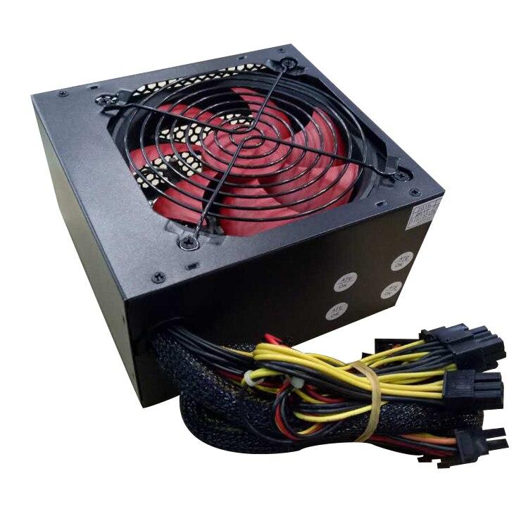 free shipping rated power 250w ATX PC PowerSupply psu 12cm fan 220v with 6pin 8pin
