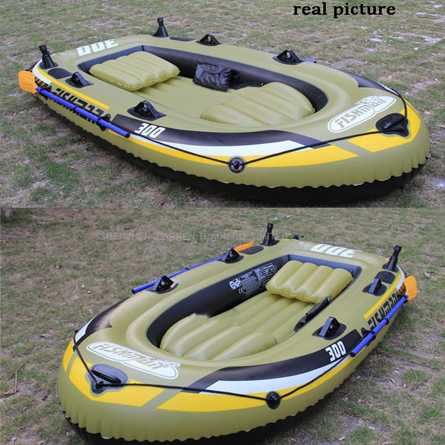2 adult+1 child inflatable fishing boat PVC Rowing Boats carry weight include two seat+a pair of oars+hand pump PVC