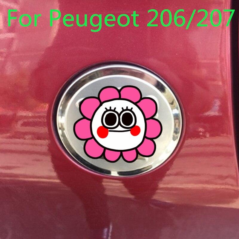 Hoogwaardige Roestvrijstalen Auto Brandstoftank Cap Decoratie Bescherming Voor Peugeot 206/207, Auto-styling Auto Covers