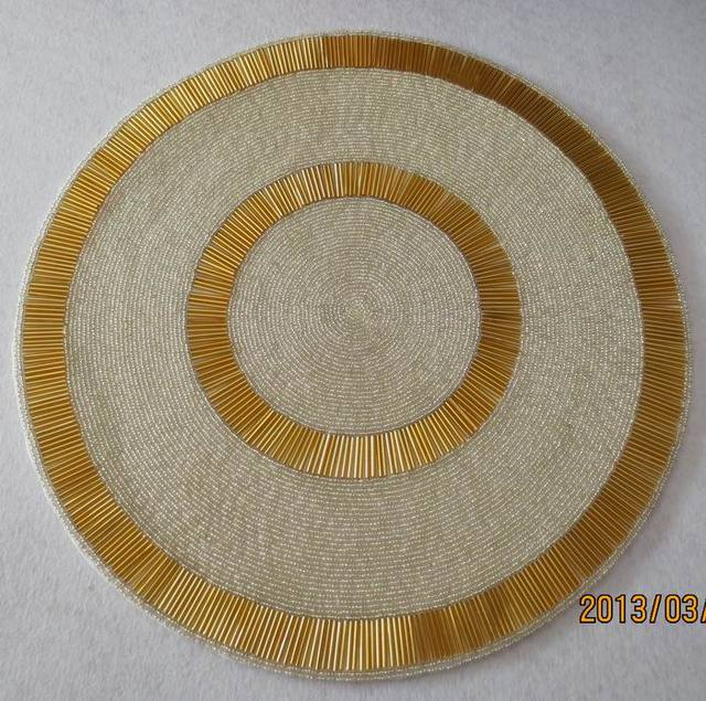 Modern coffee table sets glass-wedding decoration placemat gold table mats pad vase mat beaded & Modern coffee table sets glass wedding decoration placemat gold ...
