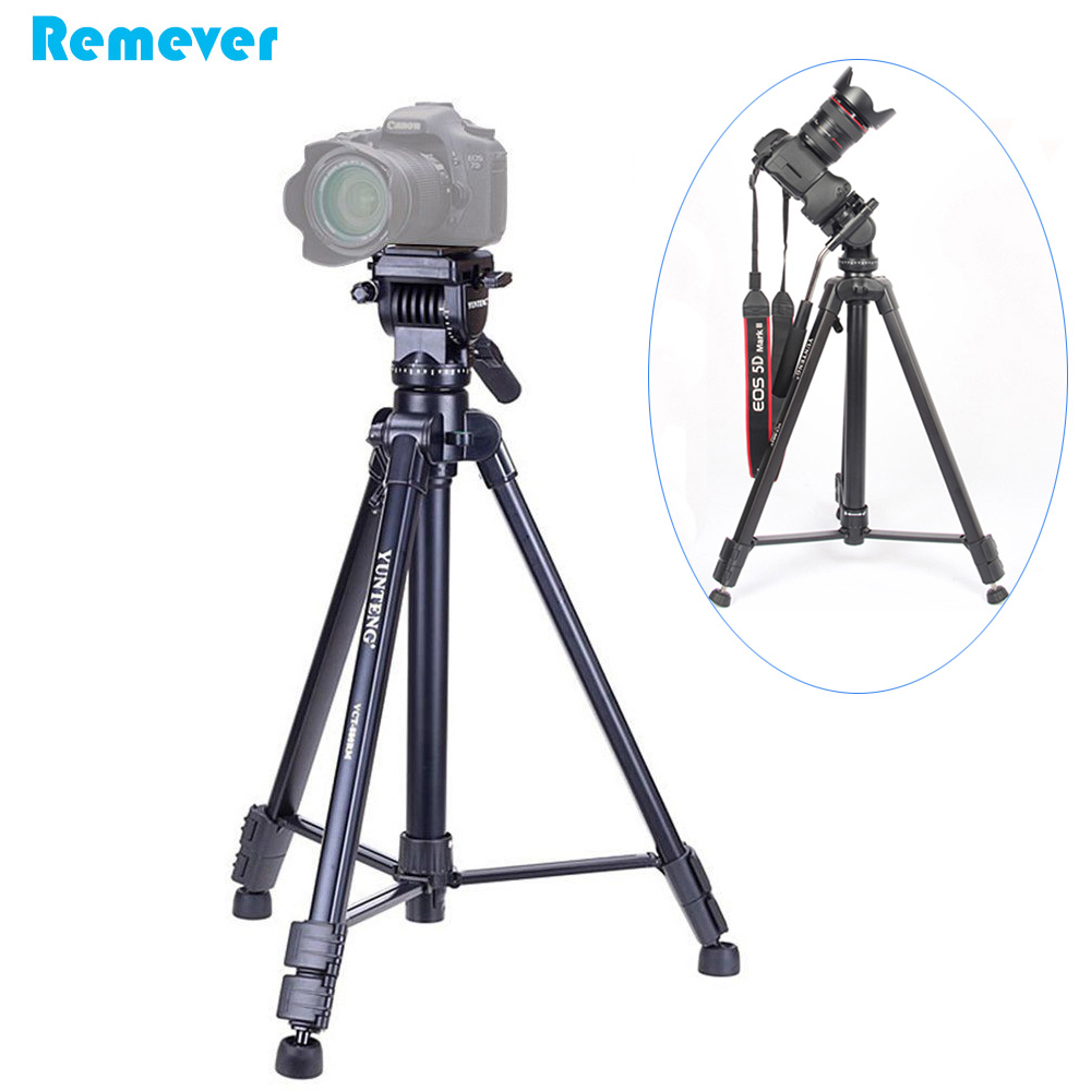 Universal Professional Mini Tripod For Gopro Canon Sony Nikon Dslr Weifeng Portable Stand 4 Section Aluminium Legs With Brace Wt 3110a Smartphone Kamera Handycam Liquid Head Gimbal Dual Spirit Level