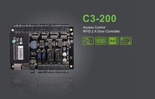 C3-200 Access control board integrated with CCTV fire alarm configure two-door two-way access control panel