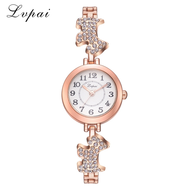 Brand Luxury Women Bracelet Watch Fashion Rhinestone Dog Band Women's Dress Wris