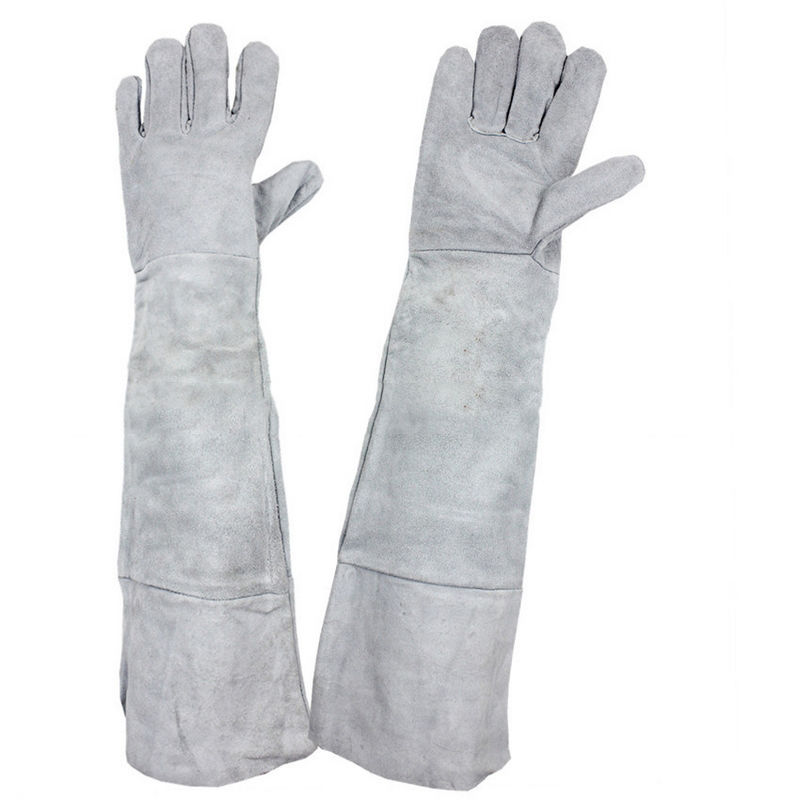 50cm Length Welding Gloves COMBO Welder Tool Heat Shield Guard Protective Heat Resistant Fireproof Leather Gloves