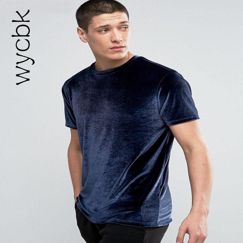 Velour T Shirt 2017 Summer Men's Short Sleeve O-neck Velvet Fabric Hip Hop Tshirt Kanye Swag Men T-shirt