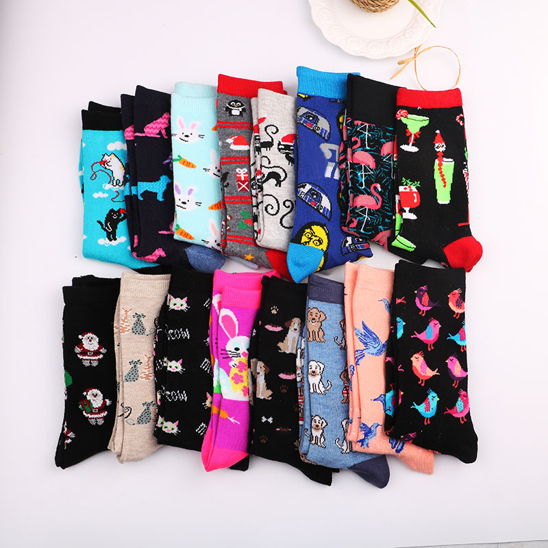 Fashion Cotton Happy   Socks   Soft Sox Beautiful Curve Men Funny Women Ladies Girls Art   Socks