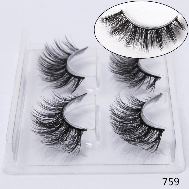 bea0227d2cf Aliexpress.com : Buy SEXYSHEEP 1/2 pairs natural false eyelashes fake lashes  makeup kit 3D Mink Lashes eyelash extension mink eyelashes maquiagem from  ...