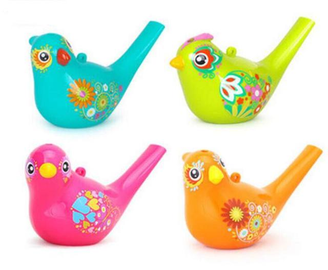 1 Pcs Hot Sale Funny Bath Toy Creative Simulation Bird Calls Add Water Whistle Children Baby Swim Toys Free Shipping