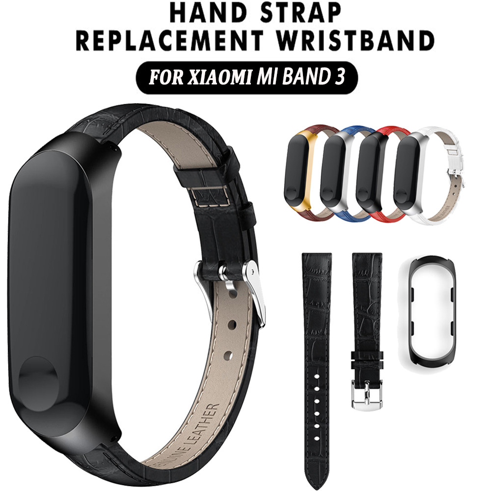 Watch Band For Xiaomi Mi Band 3 Sport Strap Watch Leather Wristband For Xiaomi Mi Band 3 Accessories Bracelet Miband 3 Strap
