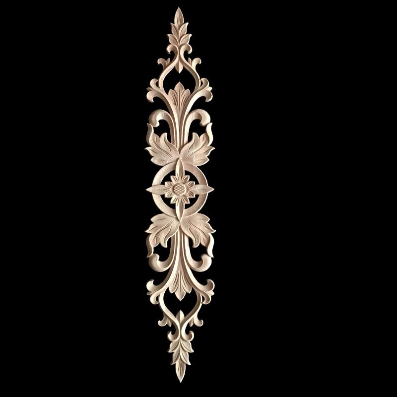 5/10 pièces bois sculpture décor bois meubles en bois appliques Figurines décalque coin Onlay Applique cadre pour la décoration de la maison