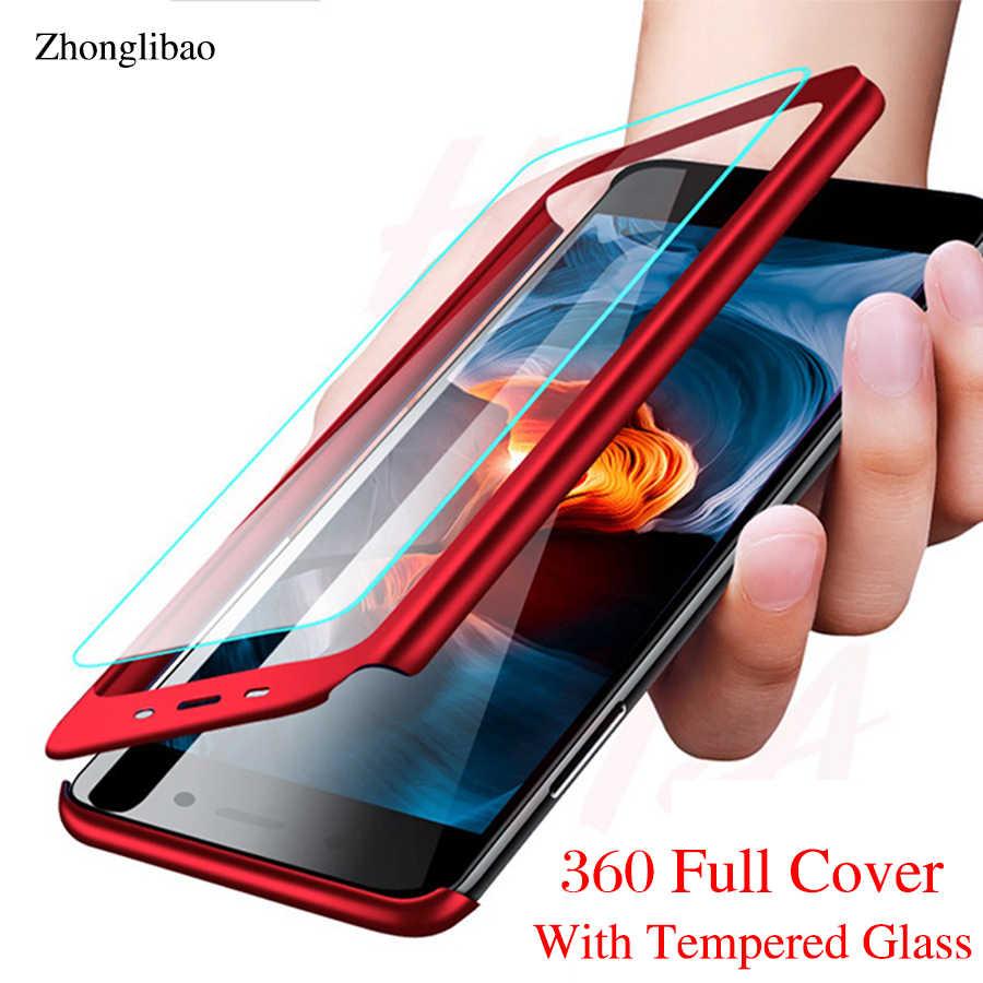 360 เต็มรูปแบบสำหรับ Samsung J4 J6 Plus J8 J2pro 2018 J3 J5 J7 2017 2016 Prime J7plus j7duo J2core + กระจกนิรภัย