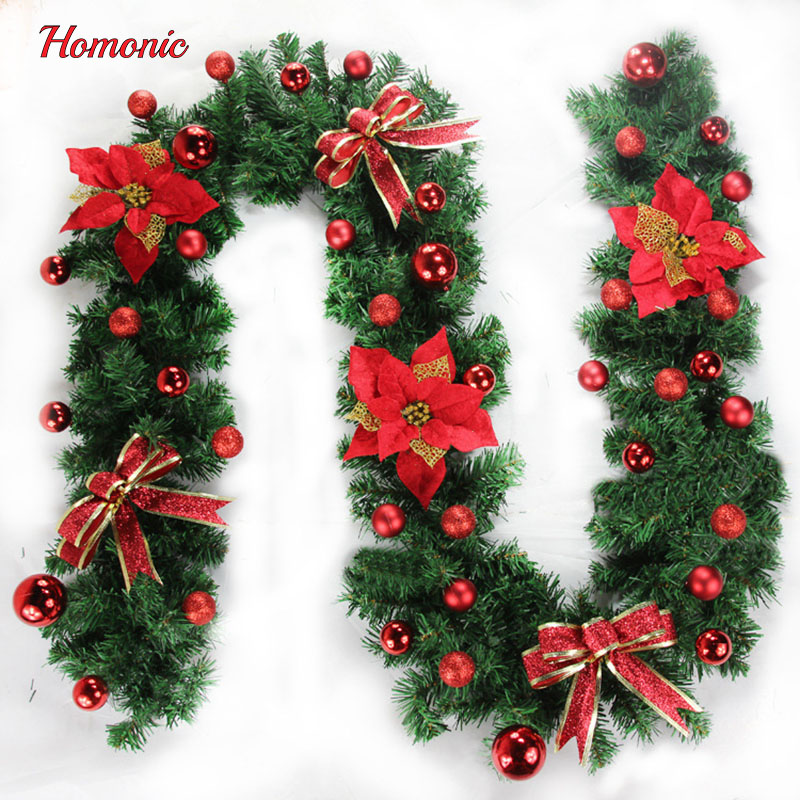 2 7m christmas garland pine tree green rattan pvc christmas decoration supplies for christmas trees fireplace stairs wall in party diy decorations from