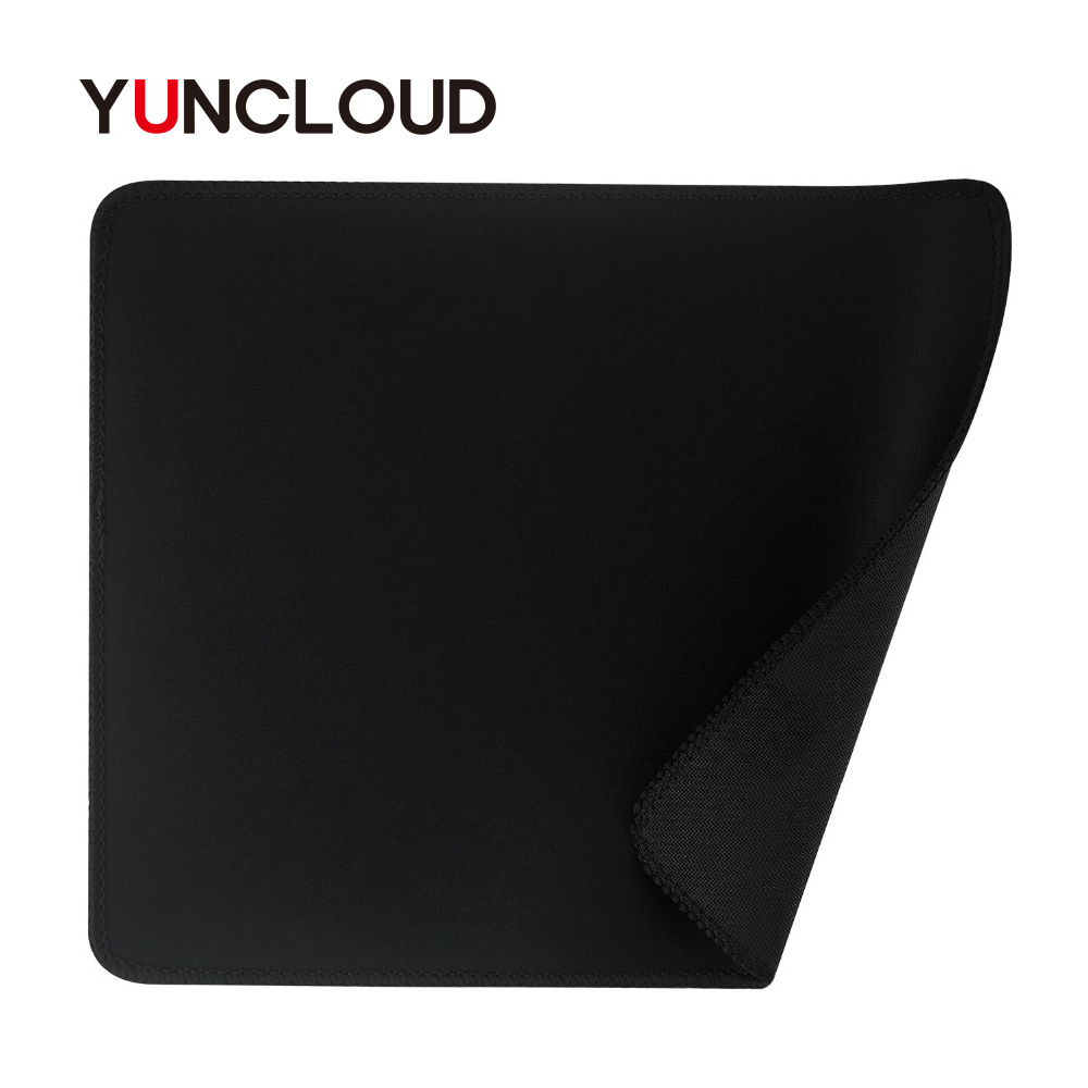 YUNCLOUD Gaming Mouse Pads 24*20cm Antislip Speed/Control Locking Edge Black Mouse Mat Pad Mouse Rug Laptop PC Computer Tablet