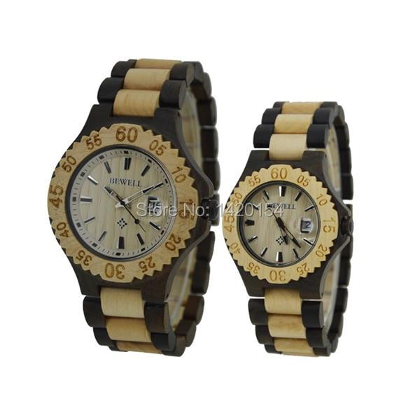 все цены на Hot Sale Bewell Natural Wood Watch Lover Watch Women Dress Watches Men