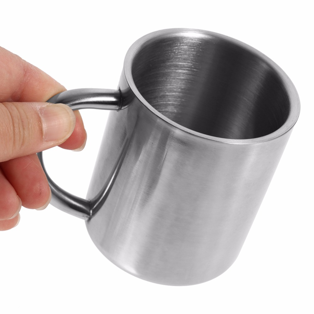 Riveting Handgripscald Proof Milk Mug Drinkware Kitchen Mugs From Home Garden Layer Stainless Steel Coffee Mugs Tea Cup Wine Cup With Layer Stainless Steel Coffee Mugs Tea Cup Wine Cup