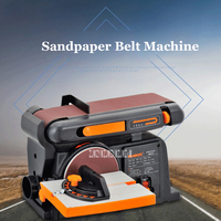 High Quality Sand Belt Machine Sandpaper Polishing Sharpening Machine Desktop Woodworking Grinder 220v 50HZ 370W 2850R