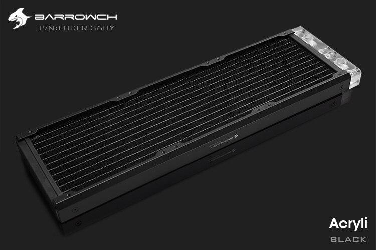 Barrowch FBCFR-360, хамелеон рыбы модульные 360 мм радиаторы, акрил/Пом съемные радиаторы, подходит для 120 мм вентиляторов - Цвет лезвия: Acrylic-Black
