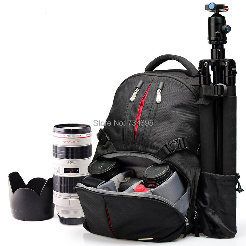 Disassemble professional DSLR camera video bag/case Travel 15.6 laptop photo Backpack with raincover for canon/Nikon/sony/pentax