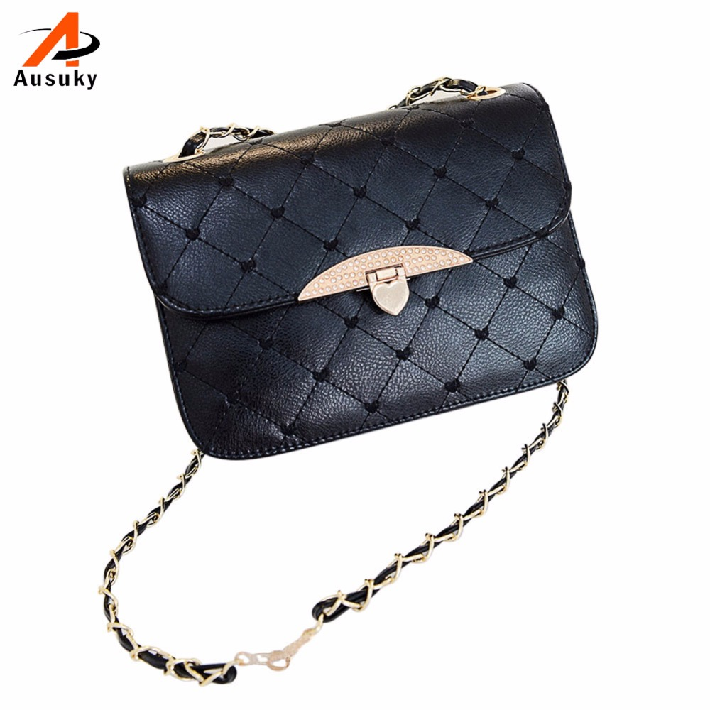 New Fashion Women Messenger Bags PU Leather Shoulder Bag Sweet Briefcase Handbag Chain Black Pink White High Quality 47 new fashion vintage high quality women bag women messenger bags handbag shoulder bags dollar price