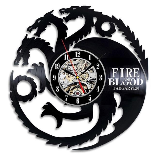 """Game of Thrones"" Vinyl Wall Clock  2"