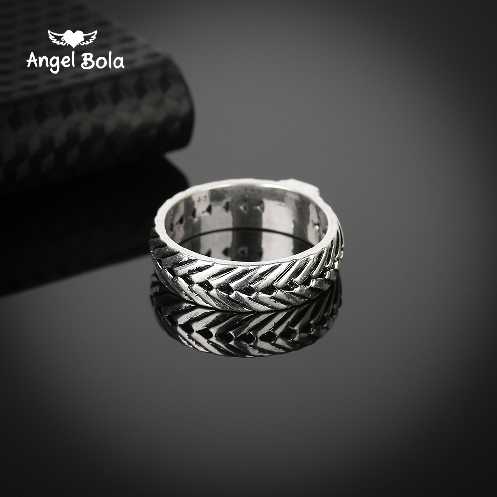 Jewelry & Accessories Frugal 25pcs/lot Hot Sale Ring For Men Male Ancient Silver Chain Retro Style Gothic Viking Eternity Biker Buddha Ring Jewelry Fingdings Reliable Performance