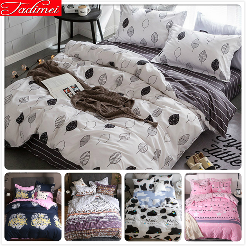 Simple Quilt Comforter Duvet Cover Bedding Set Adult ...