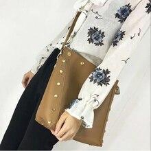 Fashion Rock Style Women Handbag Composite Bags Single Shoulder Cross Body Rivet Totes Casual Daily Shopping Bag Package Purse