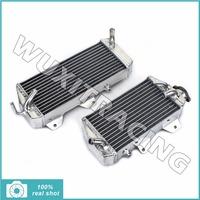 Aluminium Core Left Right New MX Offroad Motorcycle Radiators Cooler Cooling X 2 Fit For Kawasaki