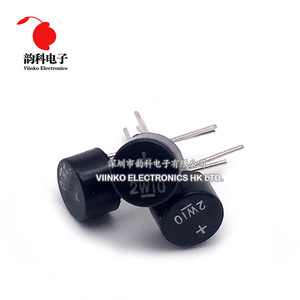 10PCS 2W10 2A 1000V DIP-4 DIP4 Diode Bridge Rectifier 2w10