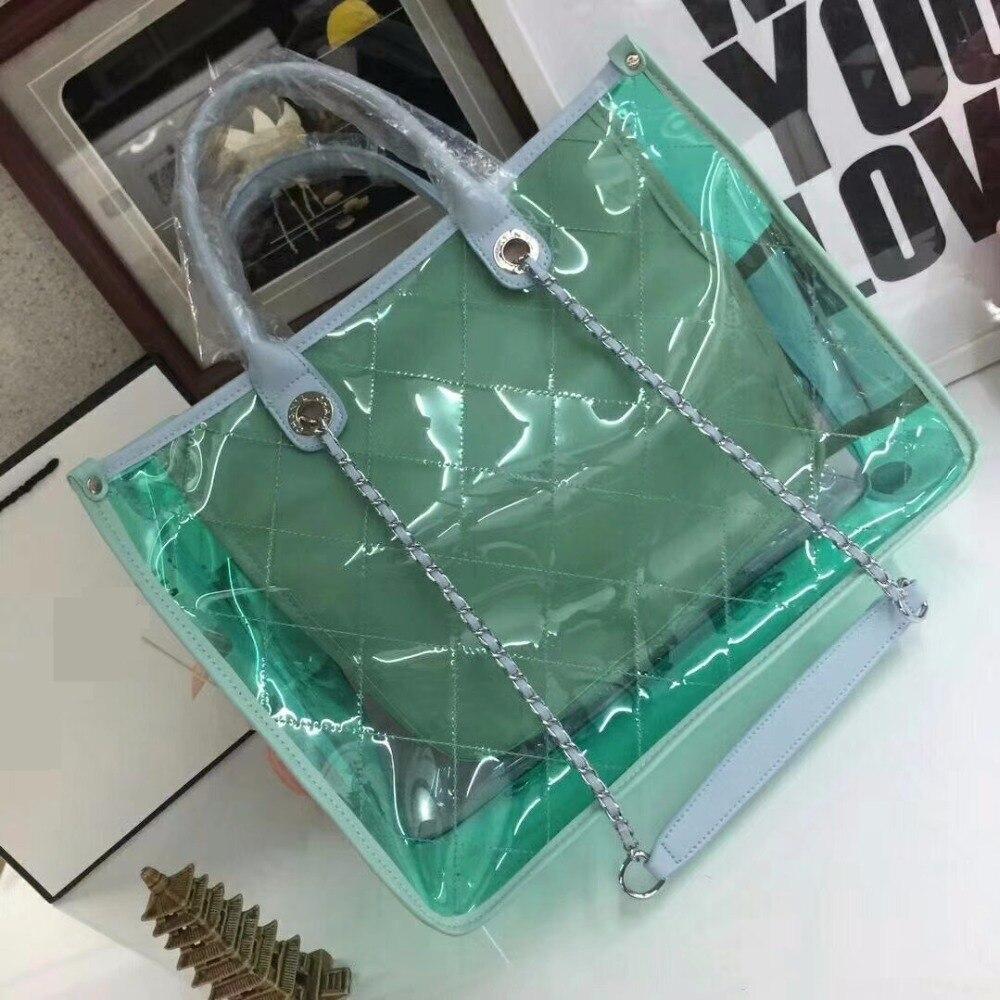 Women Handbags CC bags 2018 Fashion luxury bolsa channel designer bags brand Solid Shoulder Bags PVC Solid
