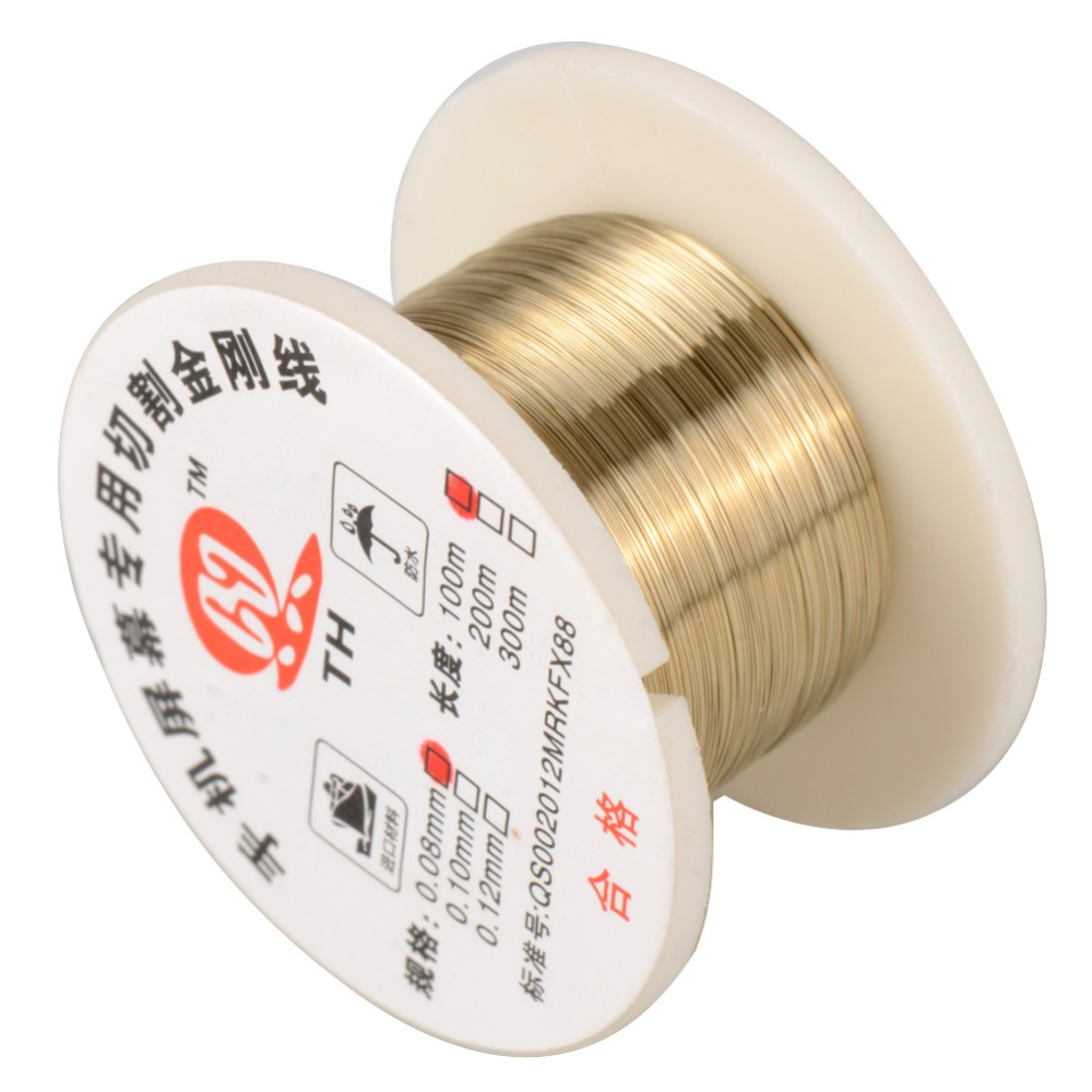 100m 0.08mm Alloy Cutting Wire Molybdenum Wire Separator SHPG Fr Cell Phone P0.05 100m 0 08mm alloy steel molybdenum wire cutting wire line lcd display screen separator repair for iphone p0 11