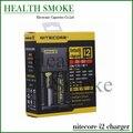 Os Recém-chegados Geunine Nitecore i2 carregador para para 16340 10440 AAA AA 14500 18650 26650 Carregador de Bateria Nitecore EU/EUA/REINO UNIDO Plug