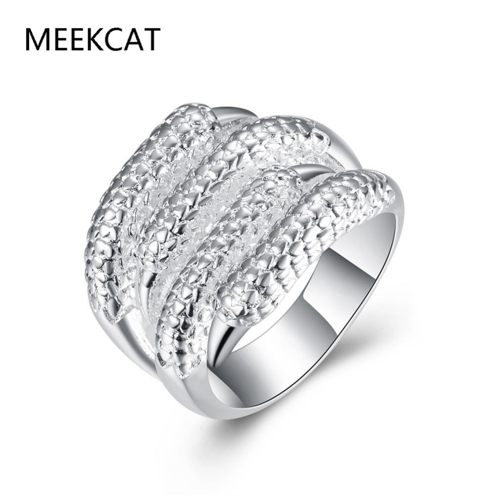 Hot Sale Fashion 925 Stamped Silver Plated Ewelry Wedding Rings Women Sharp  Talons Personalized Ring Jewelry