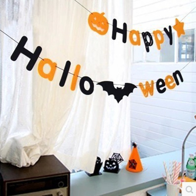 1set Halloween Flag Animal Flag Party Garland Decoration Banner