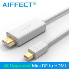 AIFFECT 4K Mini DP to HDMI Cable Mini DisplayPort to HDMI Cable Thunderbolt Port HDMI Mini DP Cable Cord Line Premium Version цена и фото