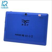 7 pulgadas FlashTablet PC A33 Android Quad Core WiFi Bluetooth Tablet PC 512 MB 16 GB 3G Externo tiene flash 7 pulgadas Tablet